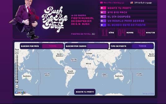 Página da internet mostra festas organizadas pelo mundo (Foto: Reprodução) Página da internet mostra festas organizadas pelo mundo (Foto: Reprodução)