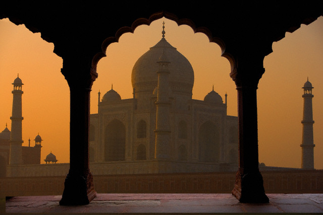 India --- Taj Mahal at Sunset