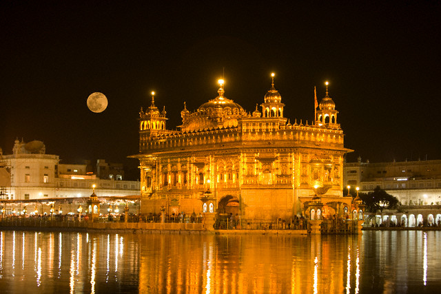 The Golden Temple, more formally known as the Harimandir Sahib, is the spiritual center of Sikhism.