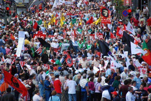 protesto em portugal