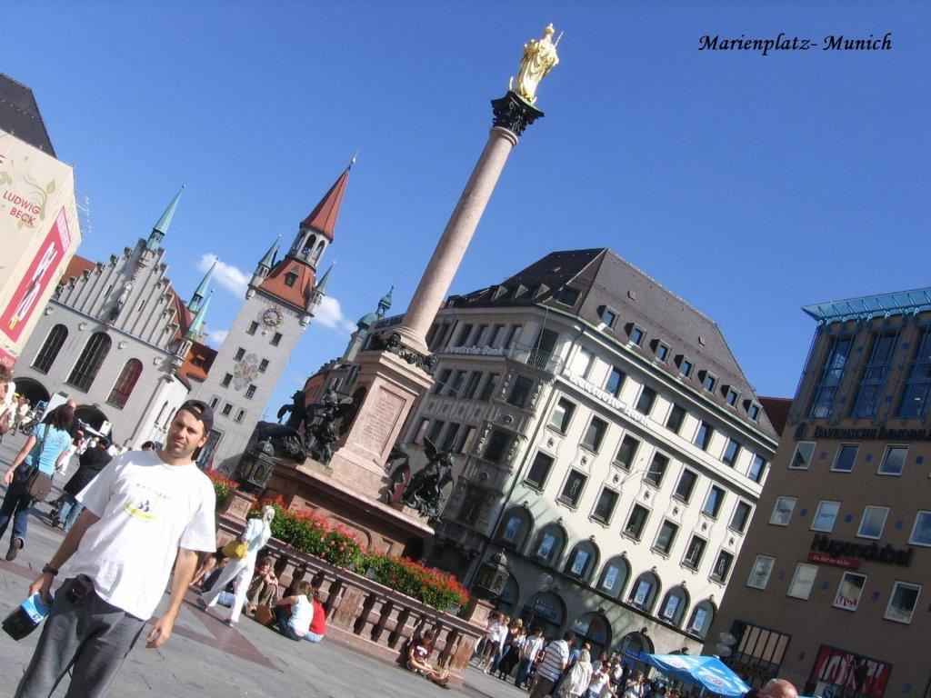 Baviera -  Marienplatz (Praça da Maria)