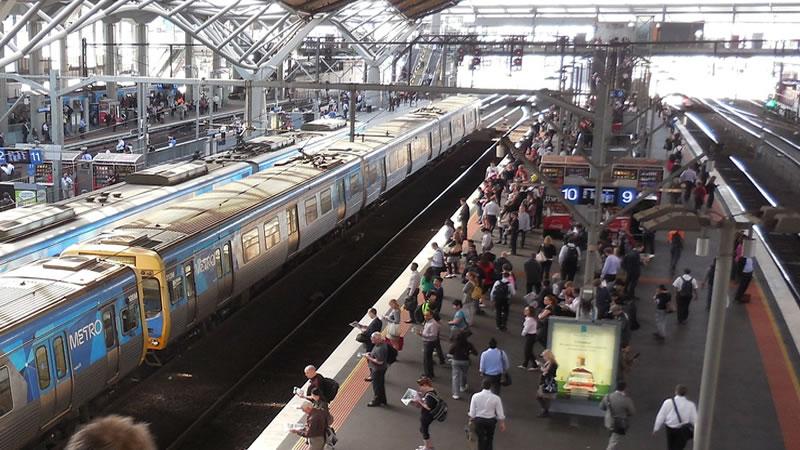 Estação de trem em Melbourne