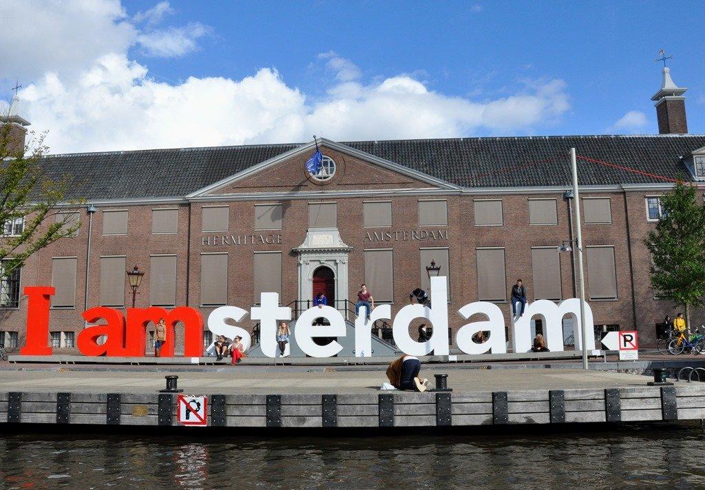 O logo I Amsterdam, em frente ao Rijksmuseum Museum. Amsterdam. Foto: Flavio Pimentel