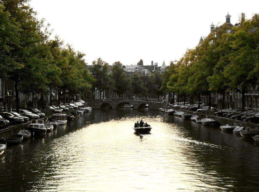 Tarde tranquila no canal. Amsterdam. Foto: Flavio Pimentel