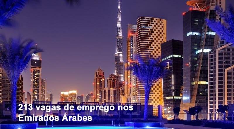 vagas de emprego nos Emirados Árabes