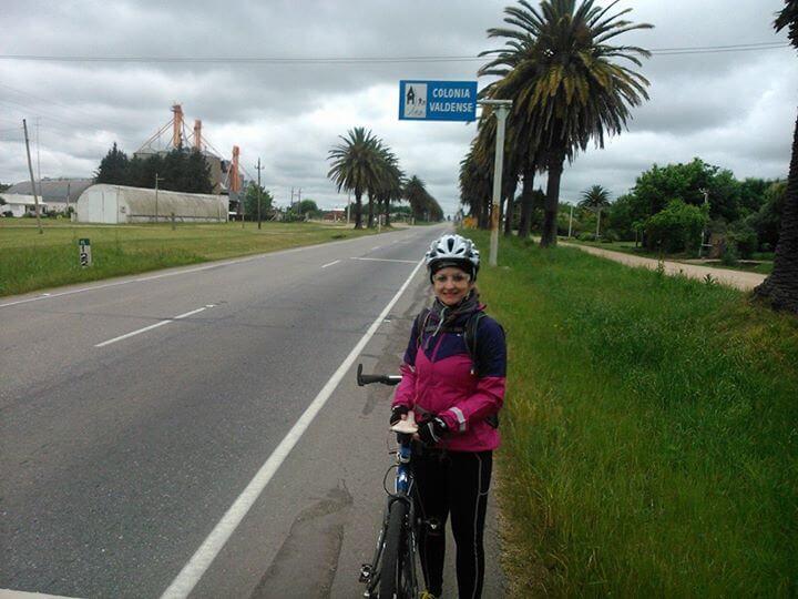 Sair do Brasil de Bicicleta - Cidade de Colonia Valdense, Rota 1 (Crédito: Márcia Procópio)