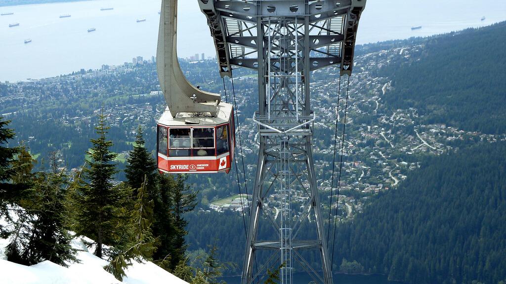 Guia de viagem -Skyride - Grouse Mountain em Vancouver. Foto: Emilee Rader