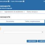 Tela 04 do pedido de passaporte