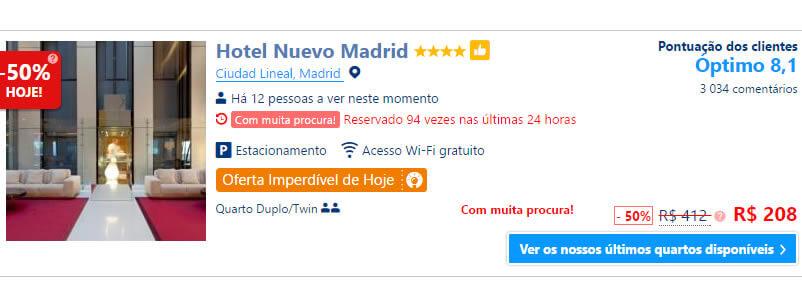 Hotéis em Madrid com diárias a partir de R$140.
