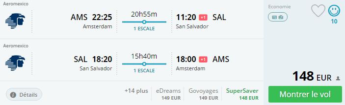 Bug de passagem Amsterdam/San Salvador outubro