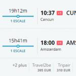 Bug de passagem Amsterdam e cancun