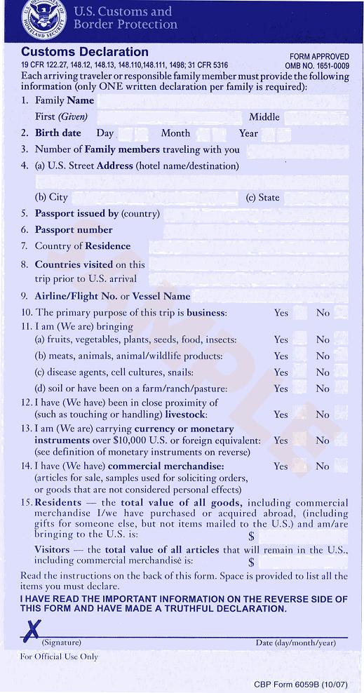 Dicas de Inglês - formulários para a imigração