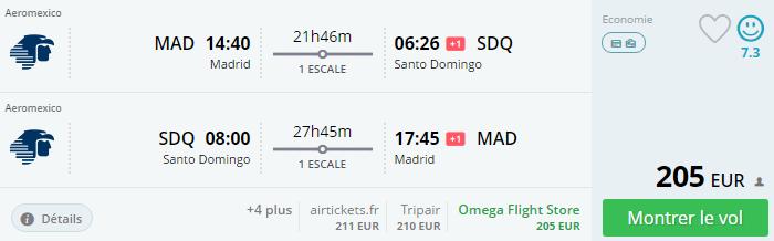 Bug de passagem Madrid e Santo Domingo