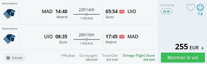 Bug de passagem Madrid e Quito