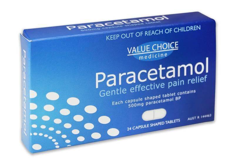 Paracetamol em inglês