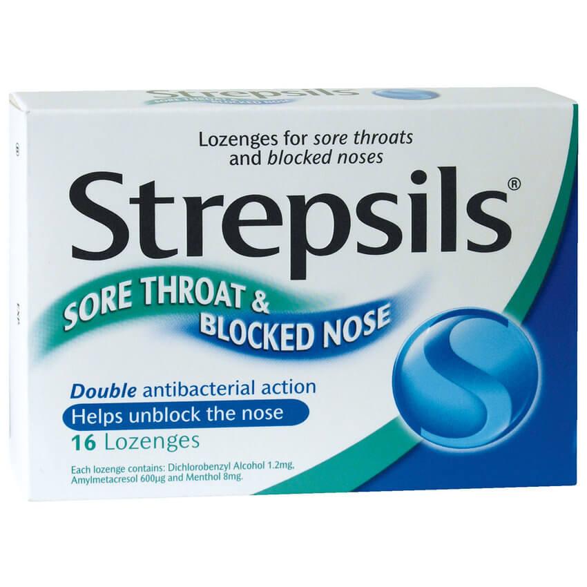 Remédio para dor de garganta em Inglês