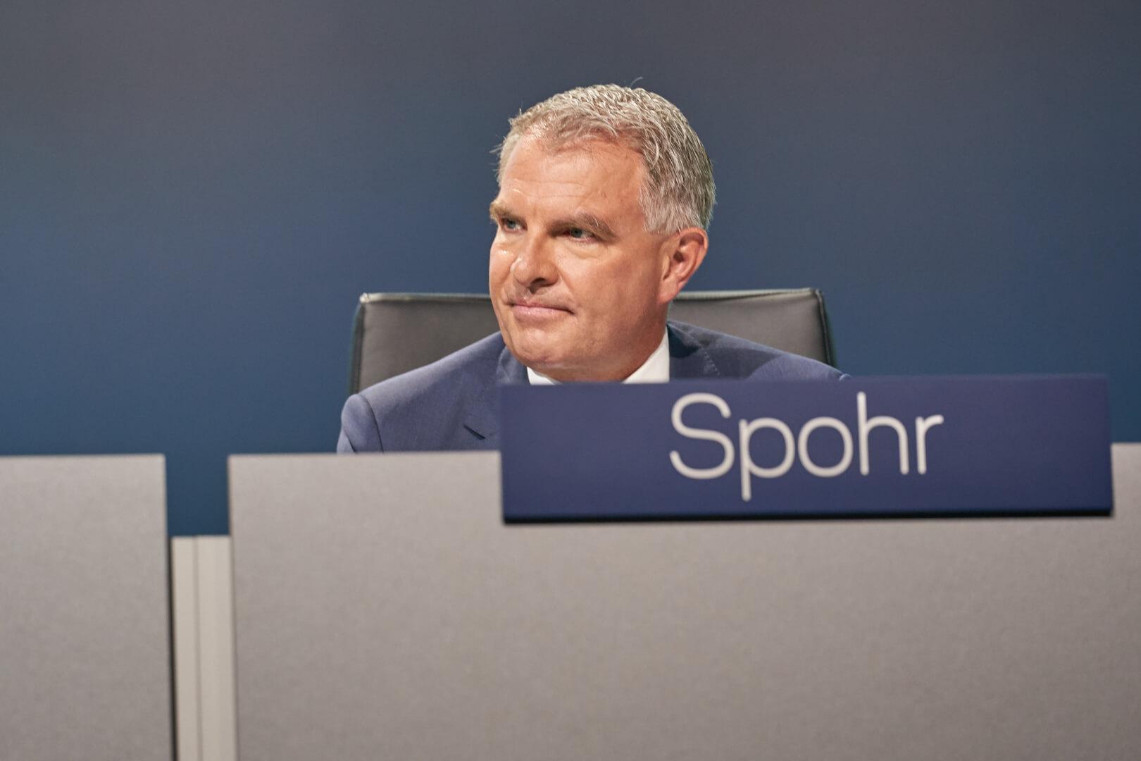 Carsten Spohr reunião da Lufthansa em 7.5.2019 em Bonn